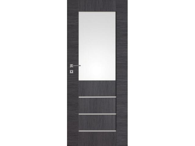 Drzwi okleinowane Premium 10 dąb szary ryfla 80 lewe zamek na klucz zwykły DRE