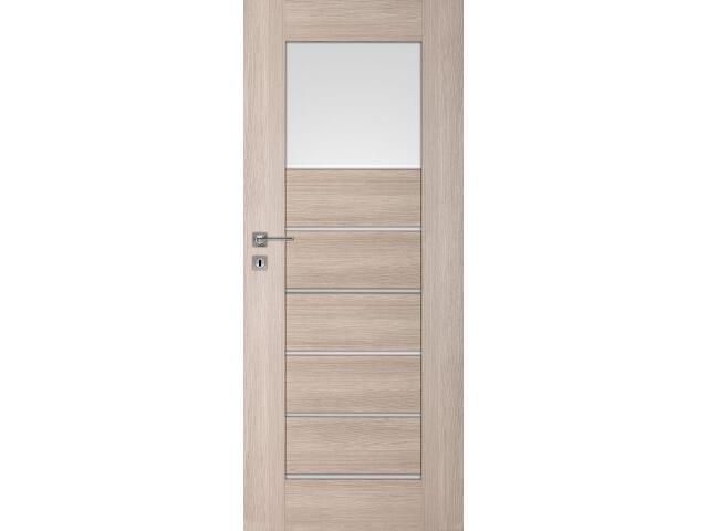 Drzwi okleinowane Premium 1 dąb bielony ryfla 60 lewe zamek na klucz zwykły DRE
