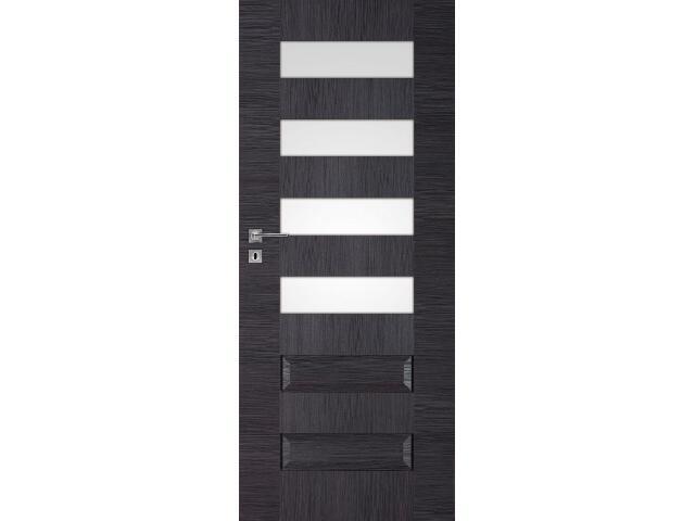 Drzwi okleinowane Scala B4 dąb szary ryfla 70 lewe zamek na klucz zwykły DRE
