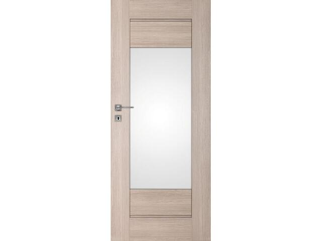 Drzwi okleinowane Premium 7 dąb bielony ryfla 80 lewe zamek na klucz zwykły DRE