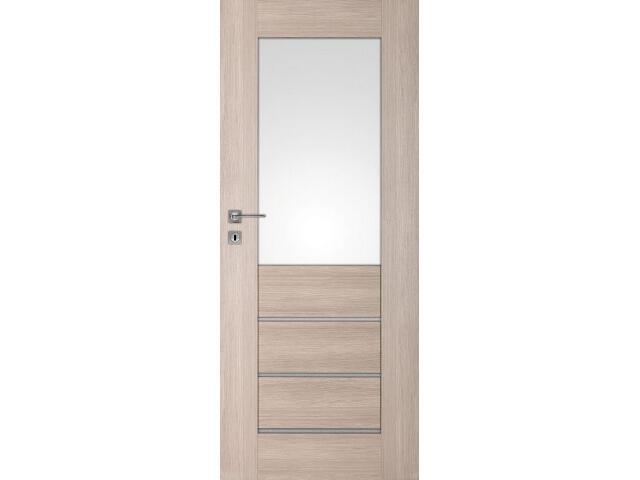 Drzwi okleinowane Premium 10 dąb bielony ryfla 90 prawe wkładka patentowa DRE