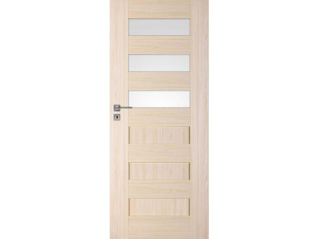 Drzwi okleinowane Scala A3 jesion 80 lewe zamek oszczędnościowy DRE