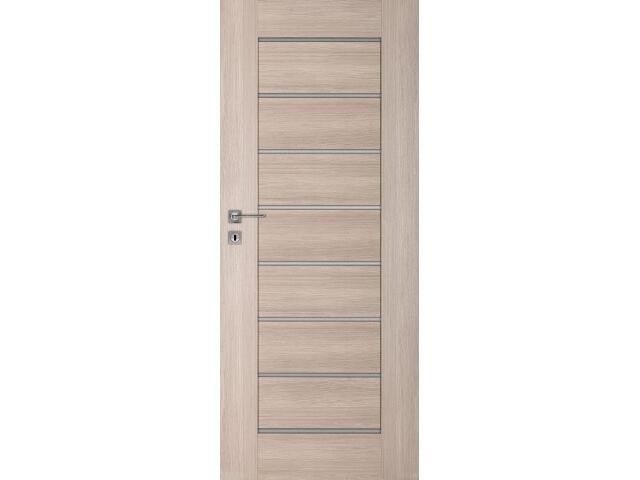 Drzwi okleinowane Premium 8 dąb bielony ryfla 90 prawe zamek na klucz zwykły DRE