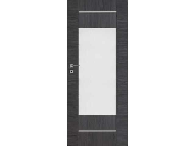 Drzwi okleinowane Premium 3 dąb szary ryfla 80 prawe wkładka patentowa DRE