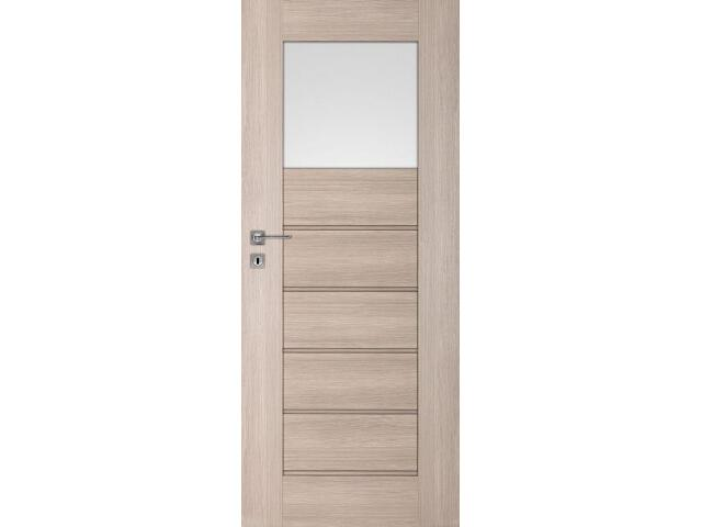 Drzwi okleinowane Premium 5 dąb bielony ryfla 60 lewe blokada wc DRE
