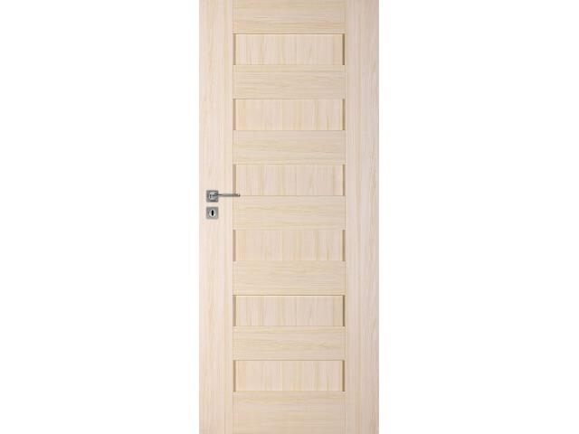 Drzwi okleinowane Scala A jesion 70 prawe zamek na klucz zwykły DRE