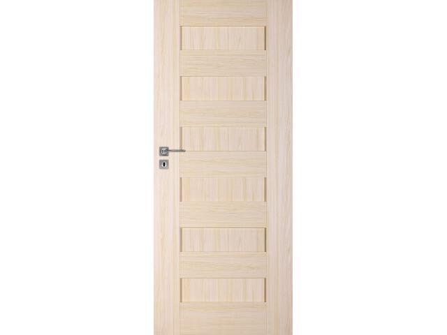 Drzwi okleinowane Scala A jesion 70 lewe zamek na klucz zwykły DRE