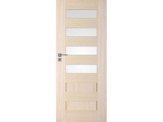 Drzwi okleinowane Scala A4 jesion 90 prawe zamek na klucz zwykły DRE