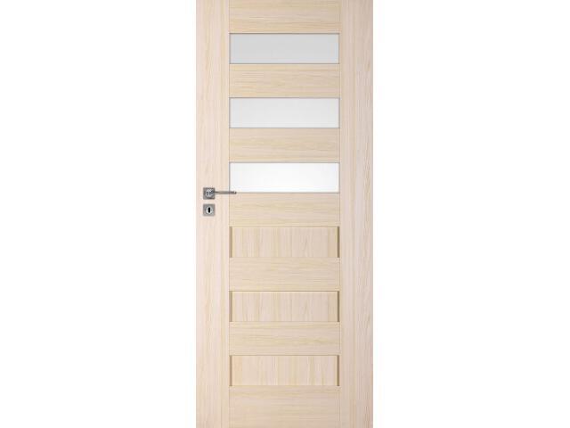 Drzwi okleinowane Scala A3 jesion 80 prawe zamek na klucz zwykły DRE