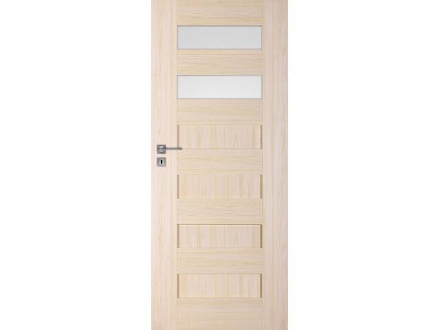 Drzwi okleinowane Scala A2 jesion 80 lewe zamek na klucz zwykły DRE