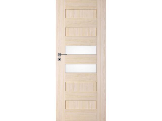 Drzwi okleinowane Scala A6 jesion 80 lewe zamek na klucz zwykły DRE