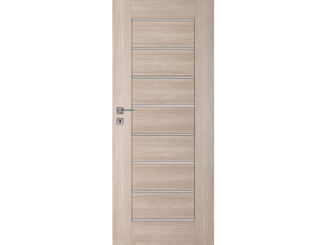 Drzwi okleinowane Premium dąb bielony ryfla 70 lewe zamek oszczędnościowy DRE