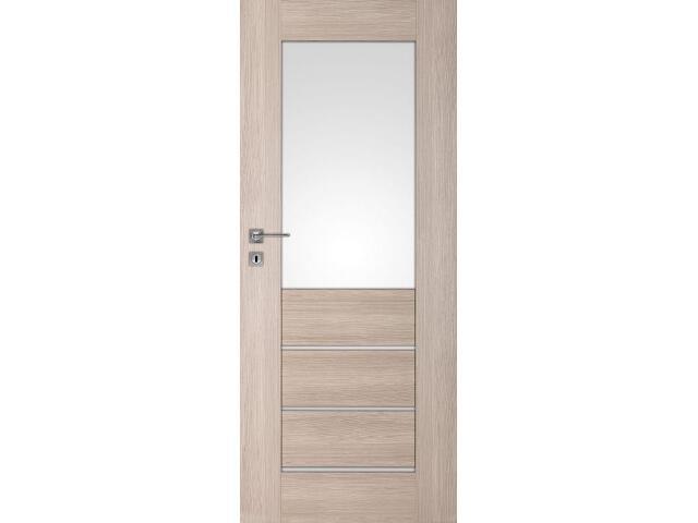 Drzwi okleinowane Premium 2 dąb bielony ryfla 80 lewe wkładka patentowa DRE
