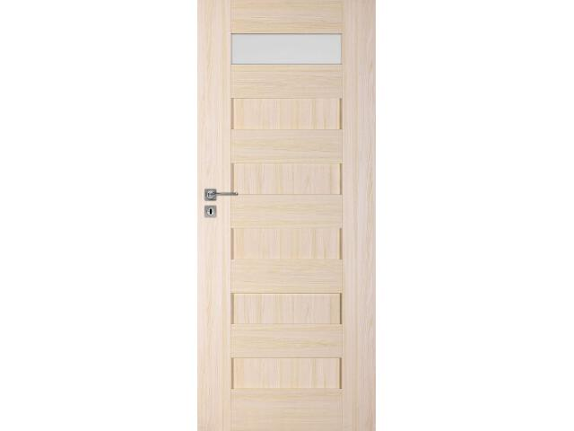 Drzwi okleinowane Scala A1 jesion 60 lewe zamek oszczędnościowy DRE