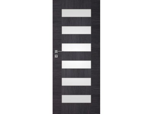 Drzwi okleinowane Scala dąb szary ryfla 60 lewe wkładka patentowa DRE