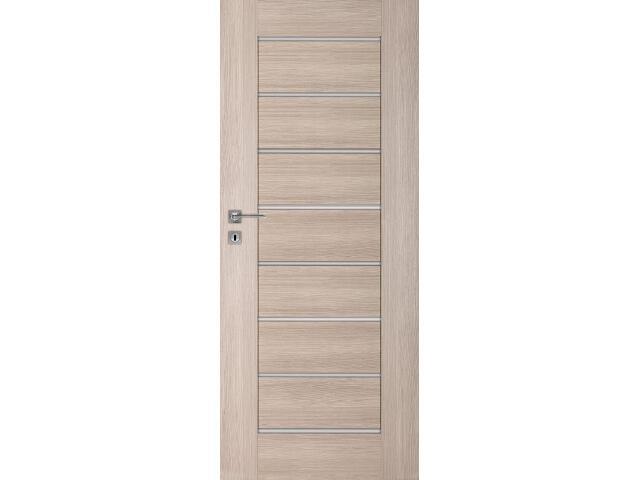Drzwi okleinowane Premium dąb bielony ryfla 80 lewe wkładka patentowa DRE