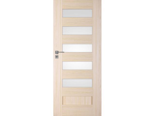 Drzwi okleinowane Scala A5 jesion 80 lewe zamek na klucz zwykły DRE