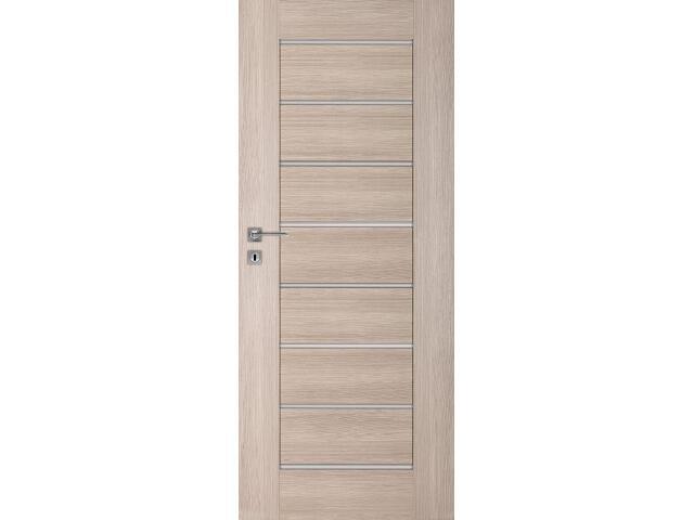 Drzwi okleinowane Premium dąb bielony ryfla 60 lewe zamek na klucz zwykły DRE