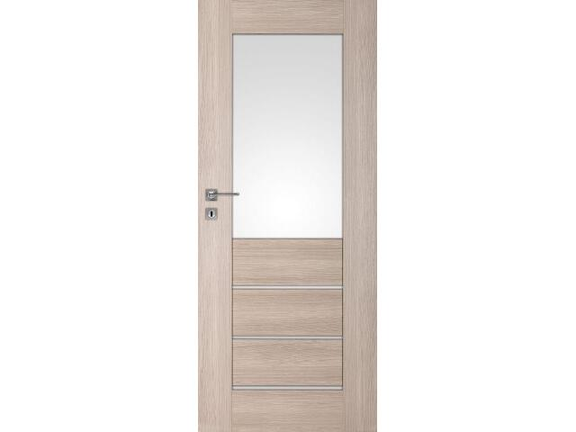 Drzwi okleinowane Premium 2 dąb bielony ryfla 100 lewe wkładka patentowa DRE