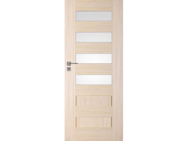 Drzwi okleinowane Scala A4 jesion 70 lewe zamek na klucz zwykły DRE