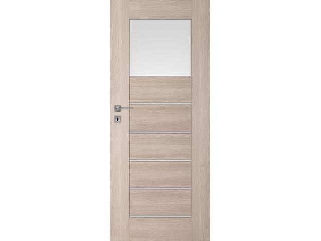 Drzwi okleinowane Premium 1 dąb bielony ryfla 60 lewe blokada wc DRE