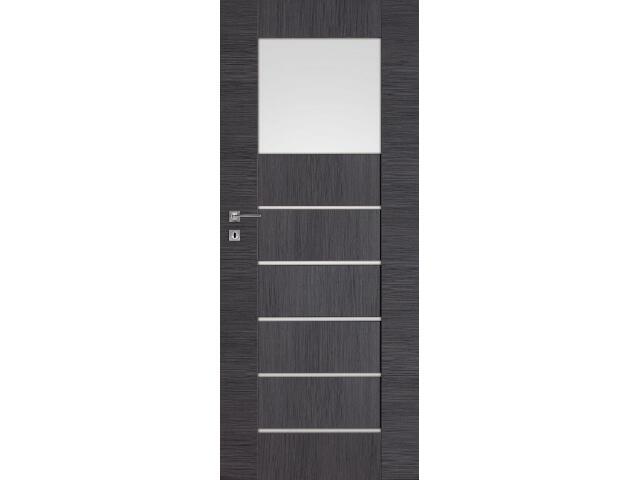Drzwi okleinowane Premium 1 dąb szary ryfla 80 lewe wkładka patentowa DRE
