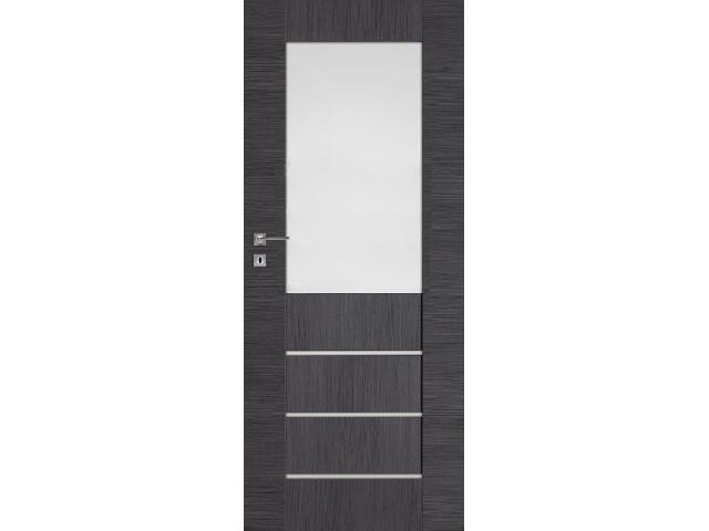 Drzwi okleinowane Premium 2 dąb szary ryfla 80 lewe wkładka patentowa DRE