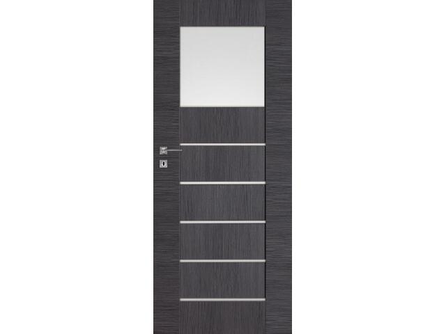 Drzwi okleinowane Premium 9 dąb szary ryfla 80 lewe blokada wc DRE