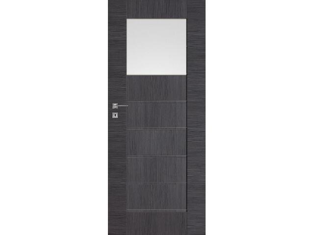 Drzwi okleinowane Premium 5 dąb szary ryfla 60 lewe zamek na klucz zwykły DRE