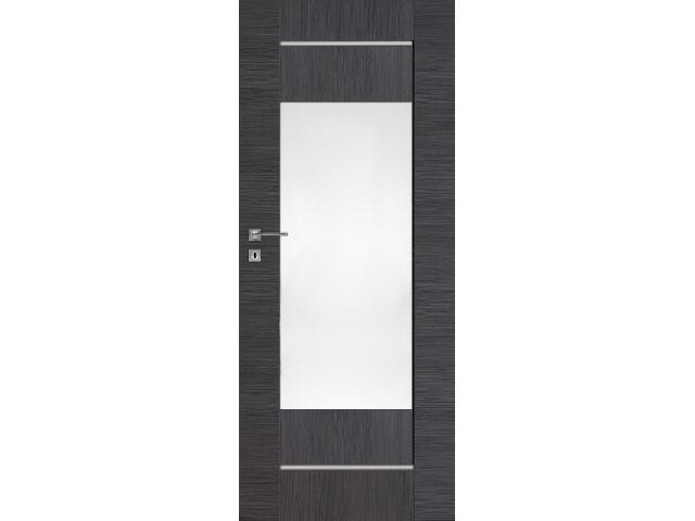 Drzwi okleinowane Premium 11 dąb szary ryfla 90 prawe zamek na klucz zwykły DRE