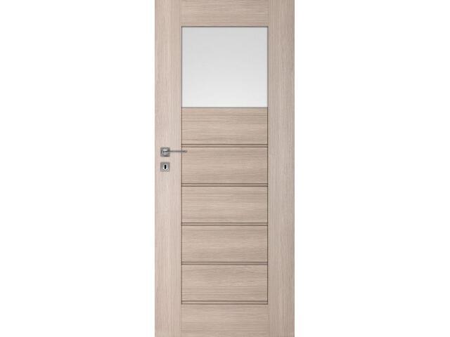 Drzwi okleinowane Premium 5 dąb bielony ryfla 60 lewe zamek na klucz zwykły DRE