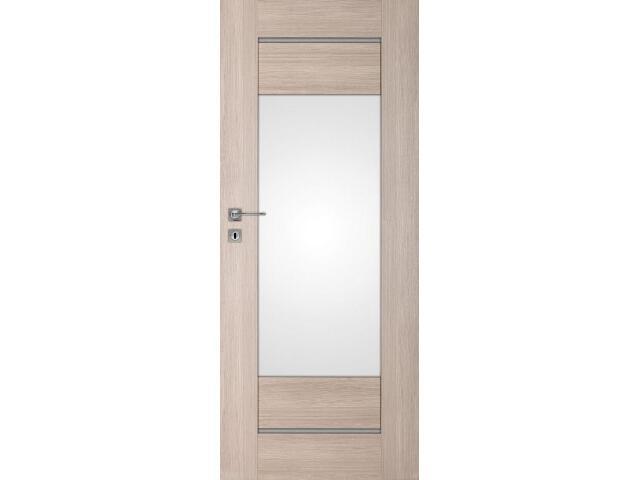 Drzwi okleinowane Premium 11 dąb bielony ryfla 90 prawe wkładka patentowa DRE