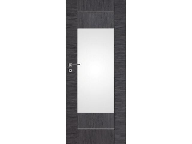 Drzwi okleinowane Premium 7 dąb szary ryfla 80 prawe zamek na klucz zwykły DRE