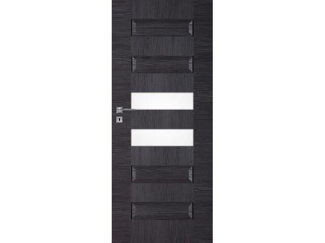 Drzwi okleinowane Scala B6 dąb szary ryfla 90 prawe wkładka patentowa DRE