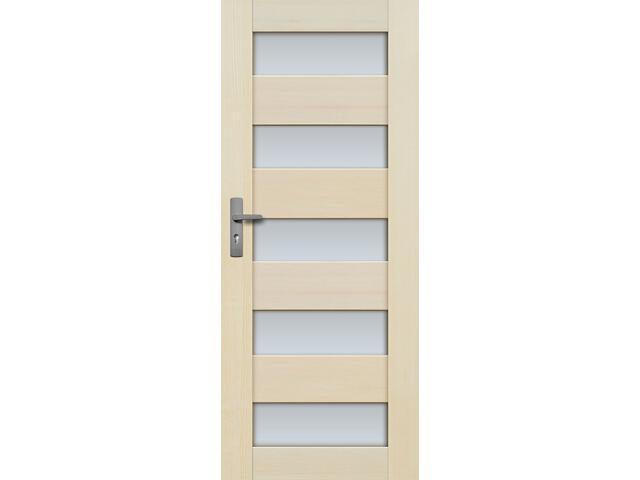 Drzwi sosnowe TOSSA przeszklone (5 szyba) 80 lewe Radex