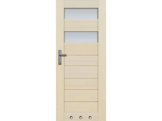 Drzwi sosnowe TOSSA przeszklone (2 szyba) 80 lewe 3 tuleje Radex