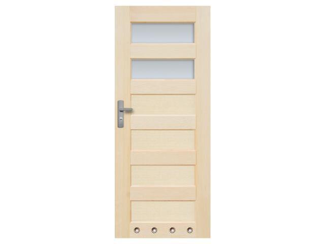 Drzwi sosnowe Manhattan przeszklone (2 szyby) 60 prawe z 4 tulejami Radex