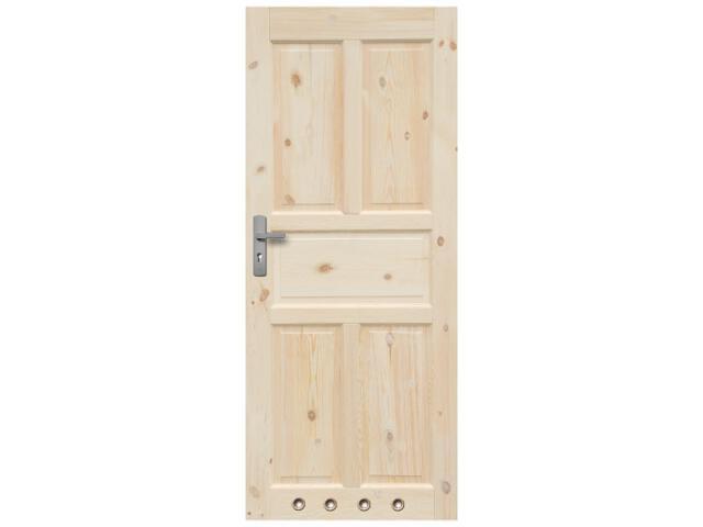Drzwi sosnowe Londyn pełne 60 lewe 4 tuleje Radex