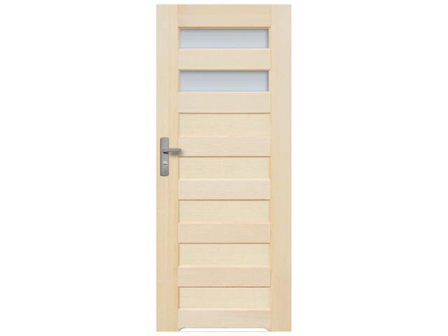 Drzwi sosnowe Panama przeszklone (2 szyby) z podcięciem wentylacyjnym 70 prawe Radex
