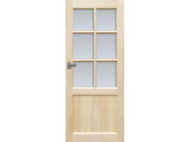 Drzwi sosnowe Perkoz przeszklone (6 szyb) 80 lewe Radex