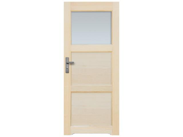 Drzwi sosnowe Bort przeszklone (1 szyba) 70 lewe z podcięciem wentylacyjnym Radex