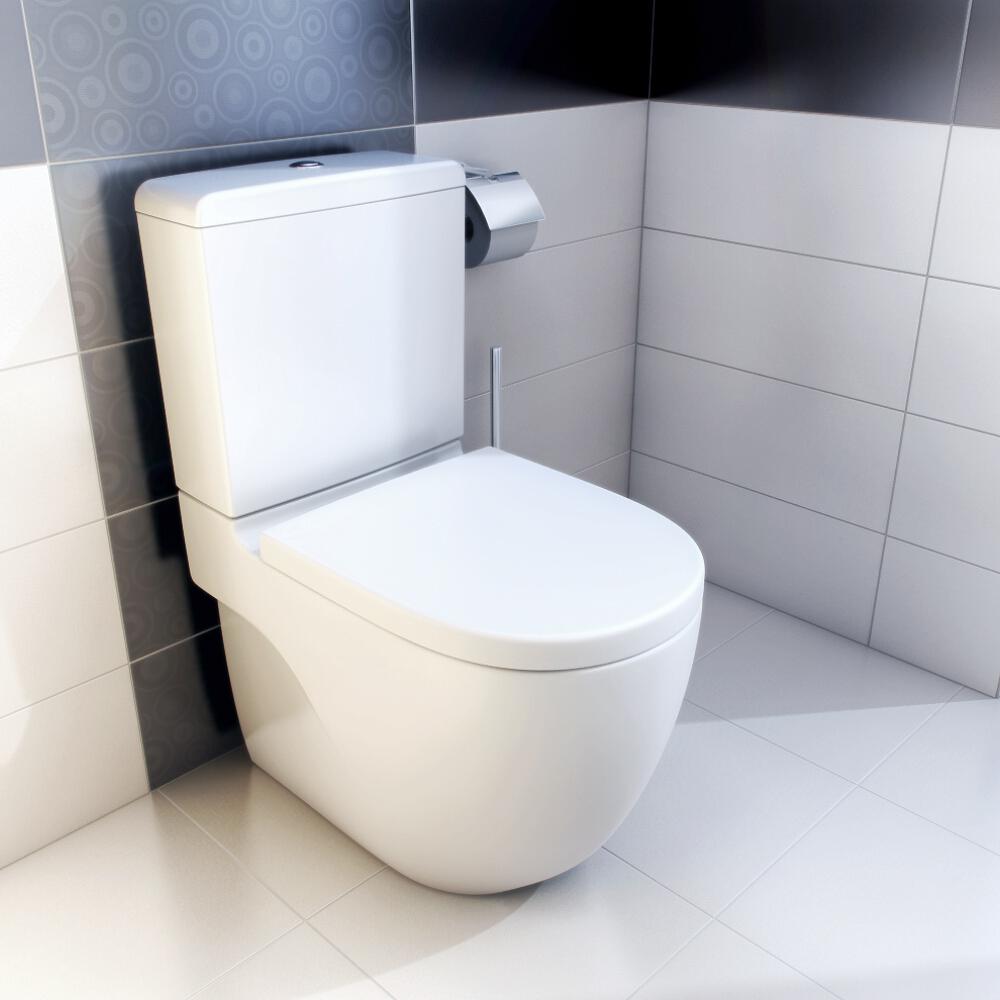 Miska wc stoj ca kompaktowa meridian n compacto a342248000 for Wc roca meridian