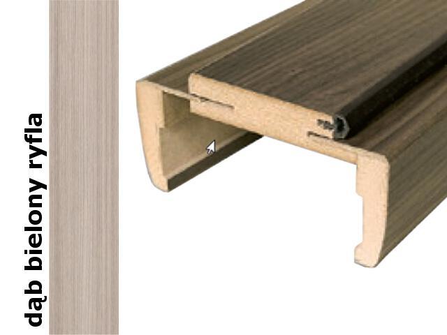 Ościeżnica regulowana 180-200mm 80 prawa dąb bielony ryfla trzy zawiasy DRE
