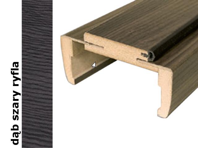 Ościeżnica regulowana 280-300mm 80 prawa dąb szary ryfla trzy zawiasy DRE