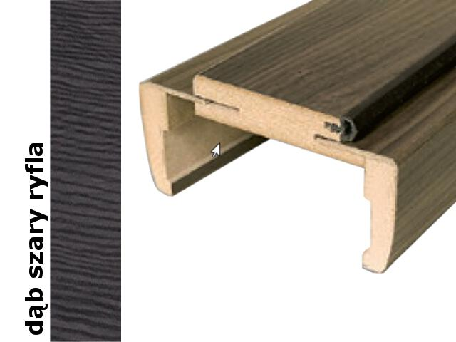 Ościeżnica regulowana 300-320mm 80 prawa dąb szary ryfla trzy zawiasy DRE