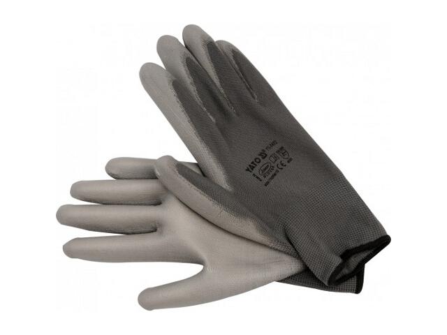 Rękawice nylonowe szare rozm. 10 YT-7472 Yato