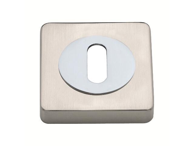 Szyld drzwiowy Basic Line kwadrat klucz chrom/nikiel szczotkowany Gamet