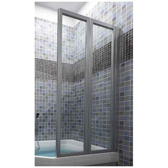 Parawan nawannowy SUPERNOVA VS2 105 profil satyna, szkło transparentne 796M0U00Z1 Ravak