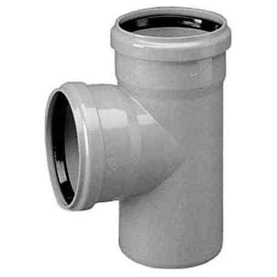 Trójnik PVC zew. KL.S 400x200x45° PVC-U redukcyjny Wavin