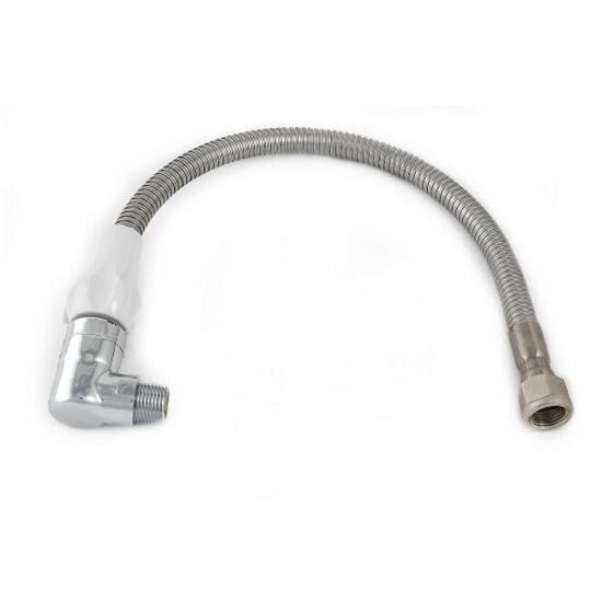 Wąż elastyczny instalacyjny metalowy 1250mm z szybkozłączem do gazu Bisan